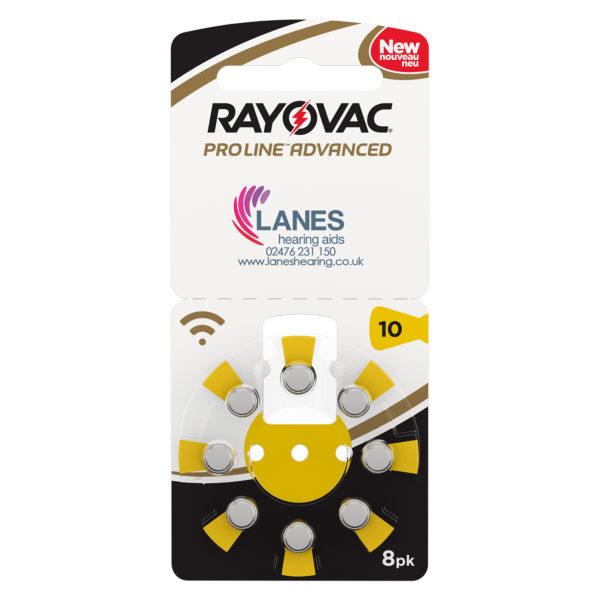 Rayovac Proline Advanced Batteries - Size 10